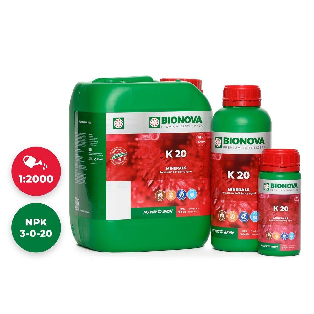 Bio Nova K 20 kálium pótlására szolgáló növénytáp