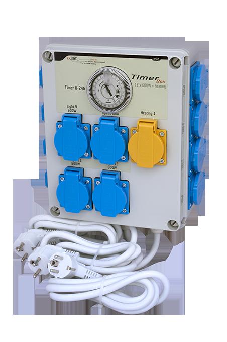 G- System Engeneering Timer Box II időkapcsoló 12x600 Watt + fűtés