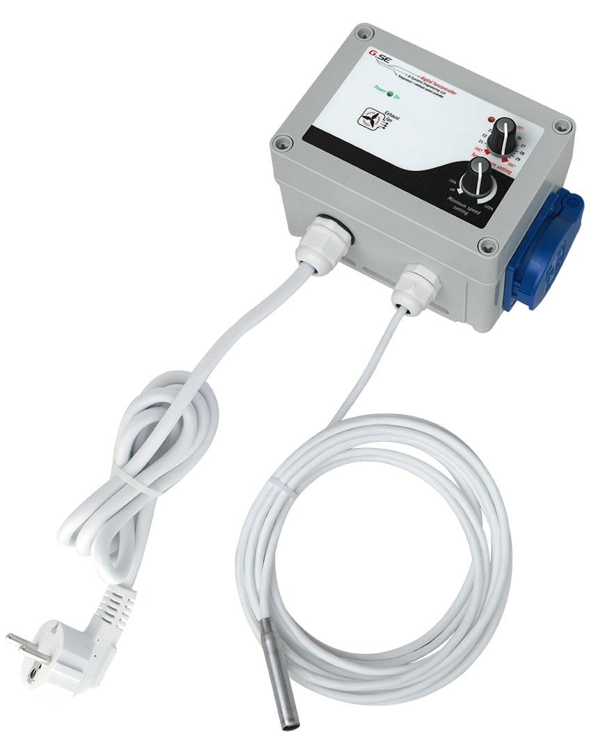 G- System Engeneering GSE Hőmérséklet és minimum sebesség vezérlő 10A